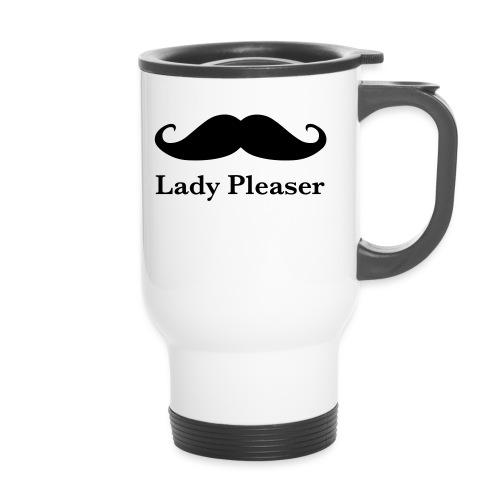 Lady Pleaser T-Shirt in Green - Travel Mug