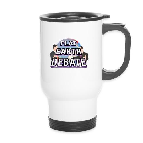 Flat Earth Debate - Travel Mug