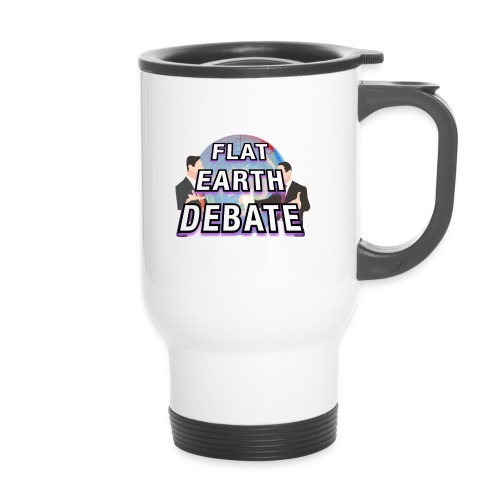 Flat Earth Debate Solid - Travel Mug