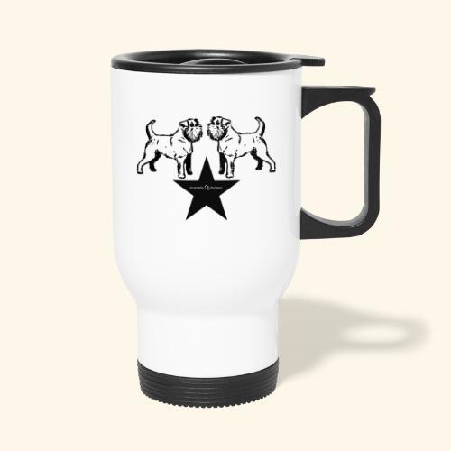 Brussels Griffon Logo - Mug thermos