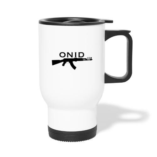 logo ONID-22 nero - Tazza termica con manico per il trasporto