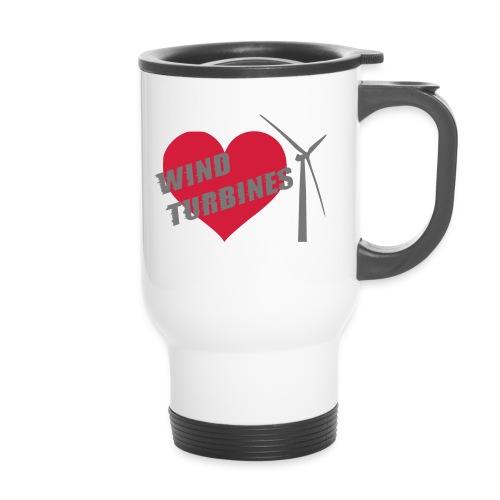 wind turbine grey - Travel Mug