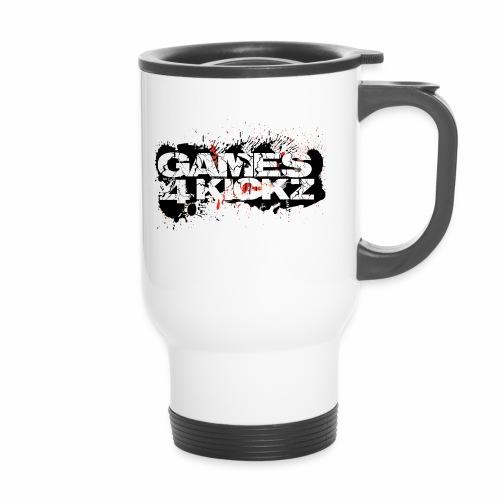 Games4Kickz Logo Splattered Background - Travel Mug