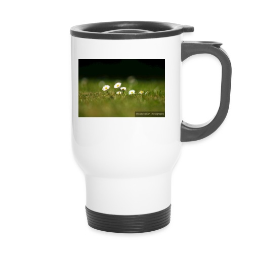 Daisies - Thermal mug with handle