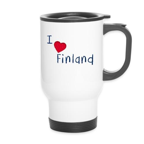 I Love Finland - Kahvallinen termosmuki