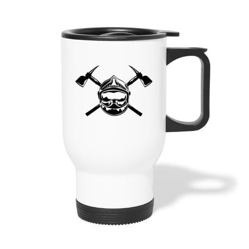 casque_pompier_2 haches - Mug thermos