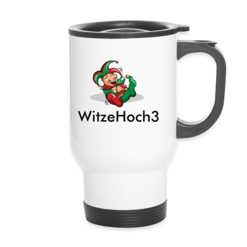 logo witzehoch3 - Thermobecher mit Tragegriff
