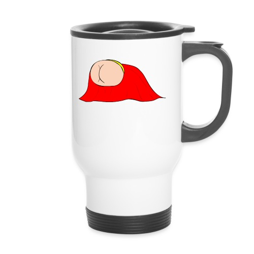 Flying Bum (diagonal) - without text - Thermal mug with handle