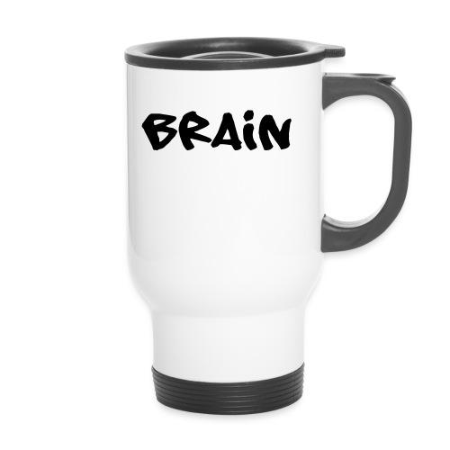 brain schriftzug - Thermobecher