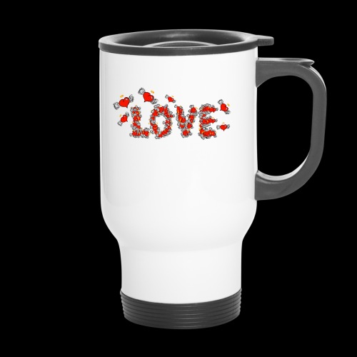 Flying Hearts LOVE - Travel Mug