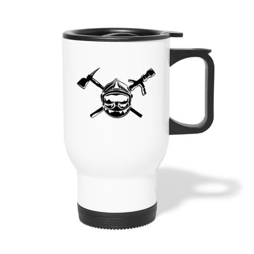 casque_pompier_hache et lance - Mug thermos