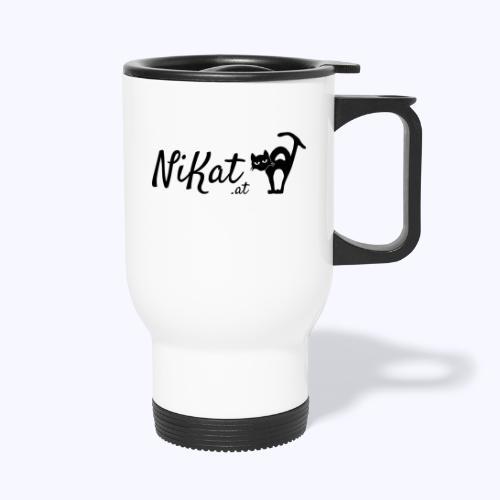 Nikat logo schwarz - Thermobecher