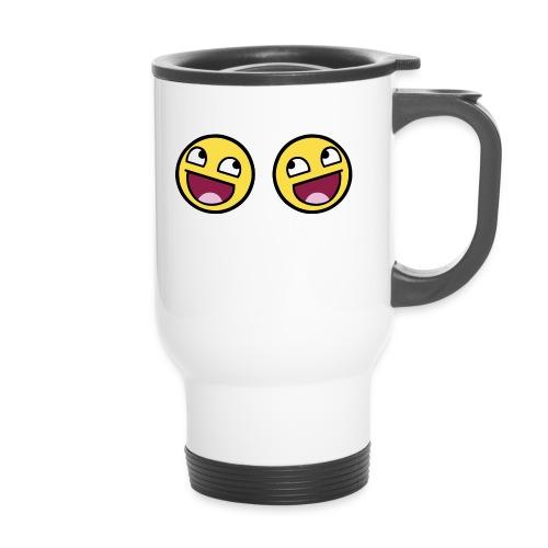 Boxers lolface 300 fixed gif - Travel Mug