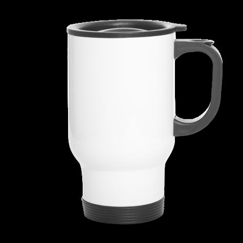 SkyHigh - Women's Hoodie - White Lettering - Travel Mug
