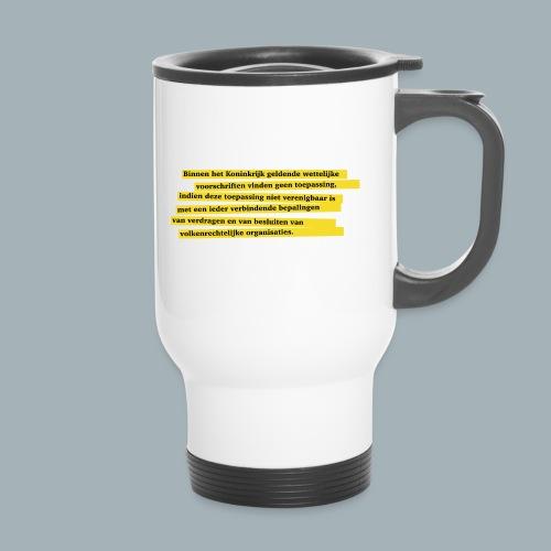 Nederlandse Grondwet T-Shirt - Artikel 94 - Thermo mok