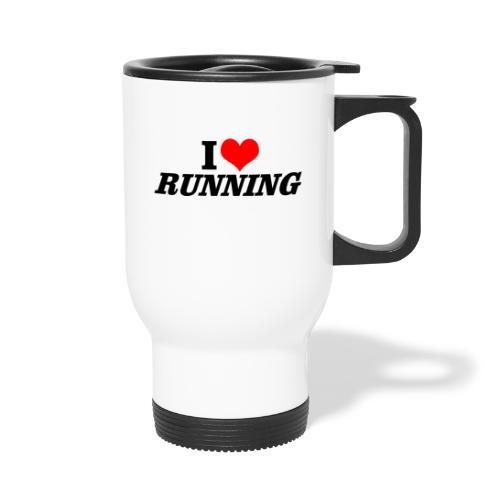 I love running - Thermobecher mit Tragegriff