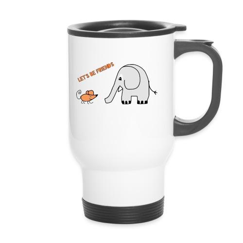 Elephant and mouse, friends - Travel Mug