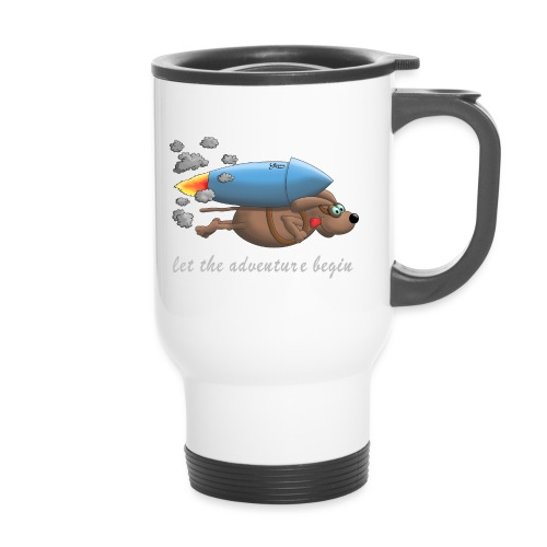 Let the adventure begin - hot dog - Thermobecher