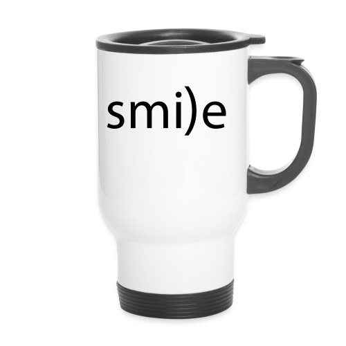 smile Emoticon lächeln lachen Optimist positiv yes - Travel Mug