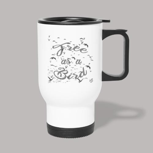 free as a bird | free as a bird - Thermal mug with handle