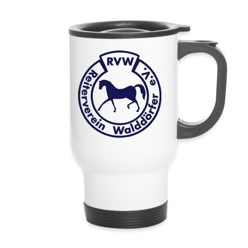 RVW Logo blau - Thermobecher mit Tragegriff