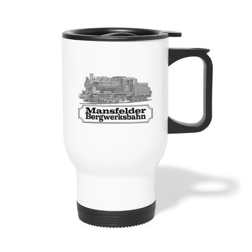 mansfelder bergwerksbahn dampflok 2 - Thermobecher mit Tragegriff