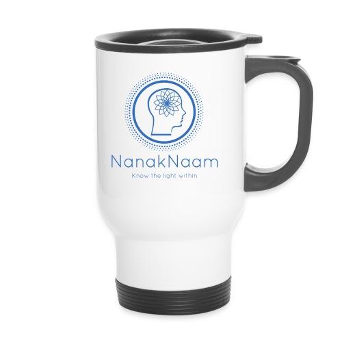 Nanak Naam Logo and Name - Blue - Travel Mug