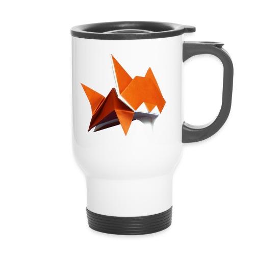 Jumping Cat Origami - Cat - Gato - Katze - Gatto - Thermal mug with handle