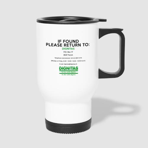 Dignitas - If found please return joke design - Thermal mug with handle