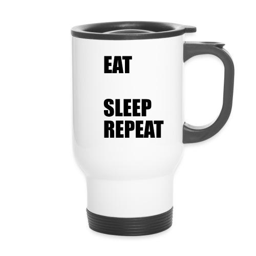 EAT BLEEP SLEEP REPEAT - Thermal mug with handle