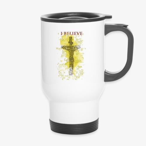 I believe / wierzę (yellow-żółty) - Kubek termiczny