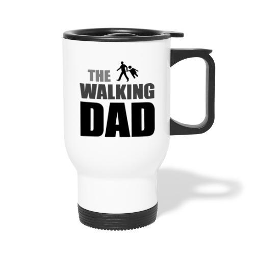 the walking dad auf dem Weg in die lustige Bar - Thermobecher mit Tragegriff