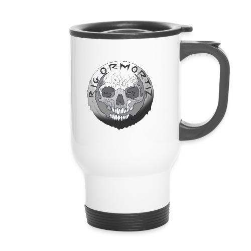 Rigormortiz Black and White Design - Thermal mug with handle