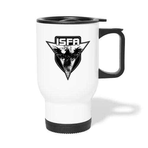 isfa logo 1c schwarz - Thermobecher mit Tragegriff