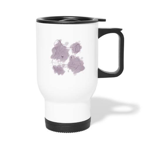 Violet splash chinchilla 2 - Kahvallinen termosmuki