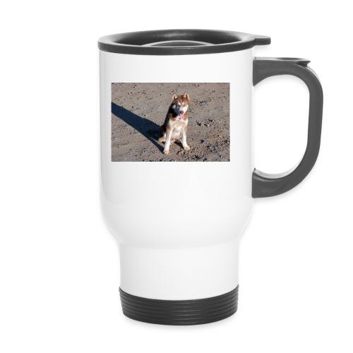 Perro amigable - Termosmugg med handtag