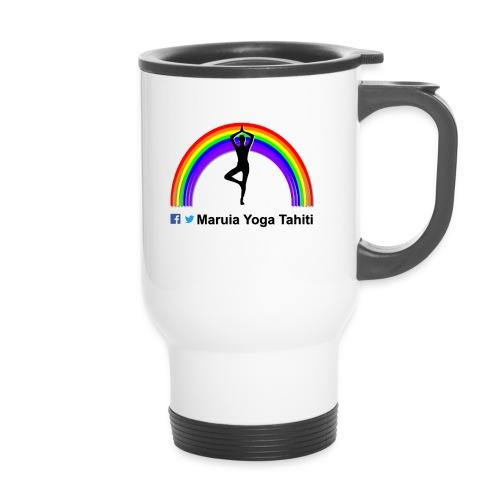 Logo de Maruia Yoga Tahiti - Tasse isotherme avec poignée