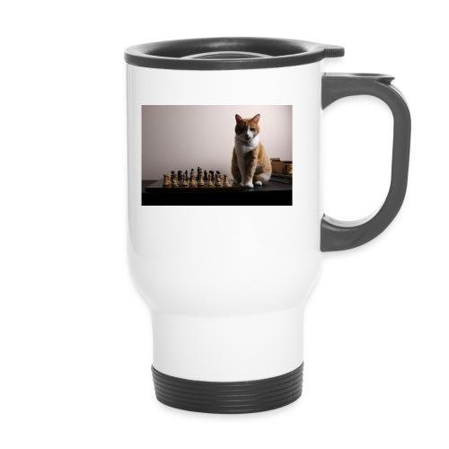 Charlie and his chess board - Thermal mug with handle