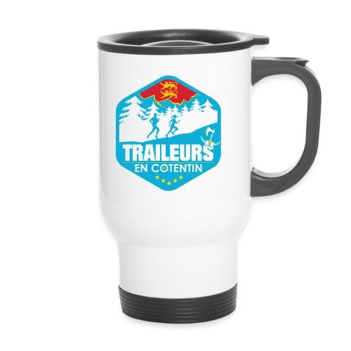 Logo traileurs en cotentin - Tasse isotherme avec poignée