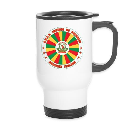 Papagaio drum logo - Kahvallinen termosmuki