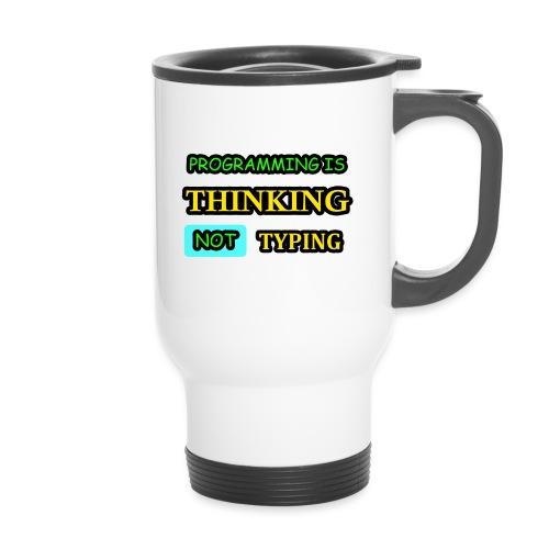 THINKING - Kahvallinen termosmuki