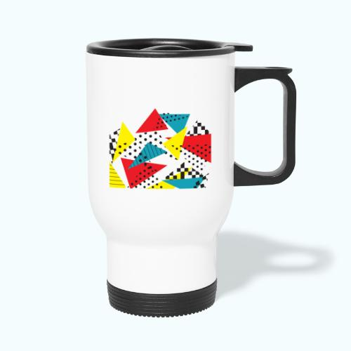 Abstract vintage collage - Travel Mug
