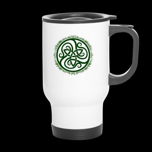 Green Celtic Triknot - Travel Mug