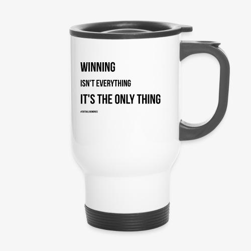 Football Victory Quotation - Travel Mug