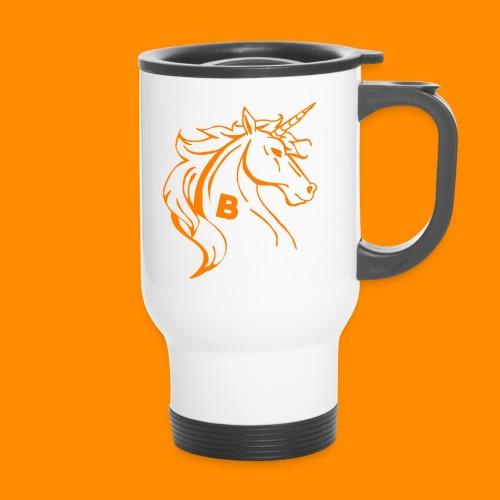 orange biodusty unicorn shirt - Thermo mok