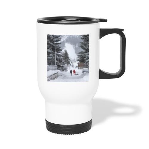 Mug le village en hiver - Tasse isotherme avec poignée