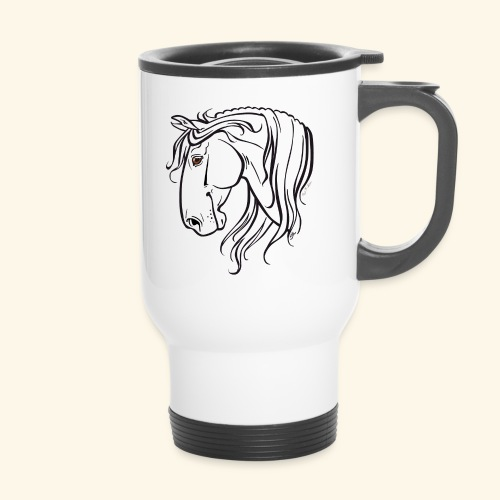 Cheval espagnol (noir) - Mug thermos