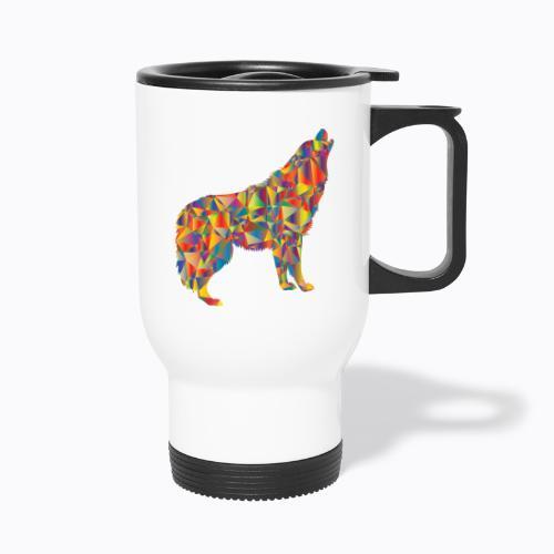 howling colorful - Travel Mug