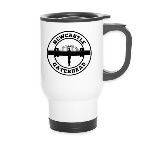 NEW BIGGER LOGO - Thermal mug with handle
