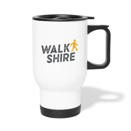 Walkshire logo orange person - Thermal mug with handle